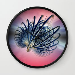 fractal decor meets sky -1- Wall Clock
