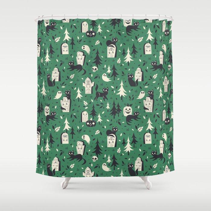Cemetery Cuties (Green) Shower Curtain