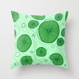 Pattern of stylized design lotus leaves Throw Pillow