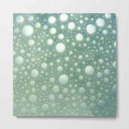 Abstract green teal modern polka dots texture pattern Metal Print