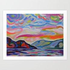 Lake Okanagan From Peachland Art Print