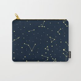 star zodiak space circle sky line light blue yellow Carry-All Pouch