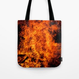 Burning Fire Tote Bag
