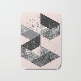 Geometric modern abstract wall art print Bath Mat