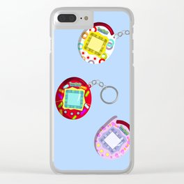 Tamagotchi Connection 2004-Blue Clear iPhone Case
