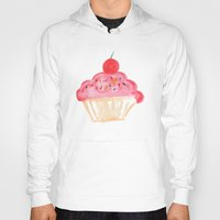 cupcakes Hoodies featuring CUPCAKES by Lauren Lee Design's