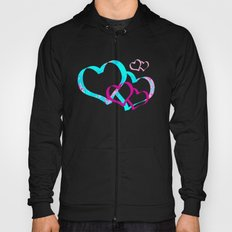 The circle of birds ... Pink and Blue Hoody