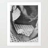 poker Art Prints featuring Poker by vooduude