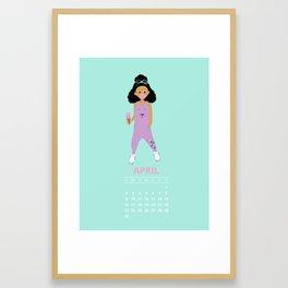 Life Is Sweet April Calendar Framed Art Print