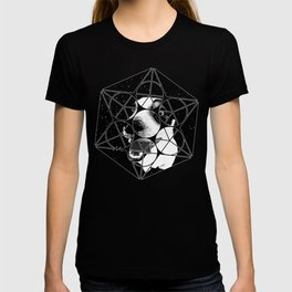 jack russell terrier dog space crazy va bw T-shirt