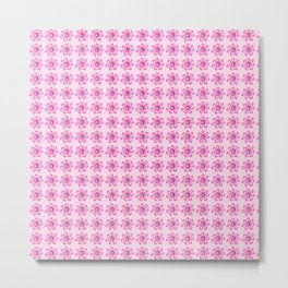 Happy Place Pink Flowers Metal Print