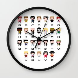 Rock Music Alphabet Wall Clock