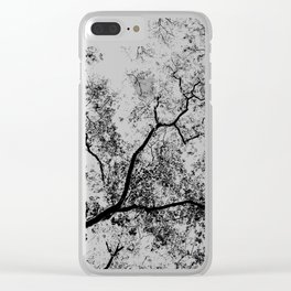 Trees Map III Clear iPhone Case