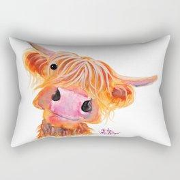 Highland Cow Print, Animal Print ' NESSIE ' by Shirley MacArthur Rectangular Pillow