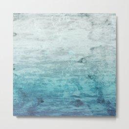 Grunge retro vintage wooden texture, vector background. abstract gradient background Metal Print