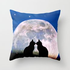 The Love Cats Throw Pillow