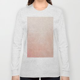 Peachy Ombre Long Sleeve T-shirt