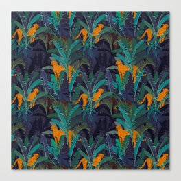 Midnight Jungle Canvas Print