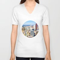 atlanta V-neck T-shirts featuring Atlanta Downtown by GF Fine Art Photography
