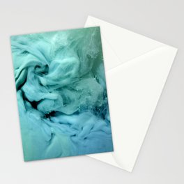 Blue and Green Swirl Stationery Cards