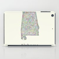 alabama iPad Cases featuring Alabama map by David Zydd