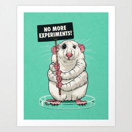 No more experiments! Art Print
