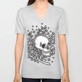 Growth With Departure ~ Black Unisex V-Neck