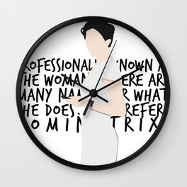 Irene Adler Wall Clock