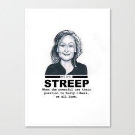 Meryl Streep Canvas Print