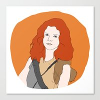 ygritte Canvas Prints featuring Ygritte by Emma
