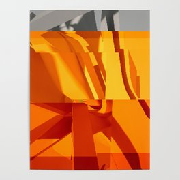Abstract Glitch 02 Poster