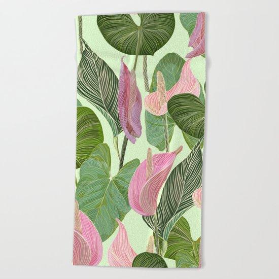 Lush Lily Beach Towel