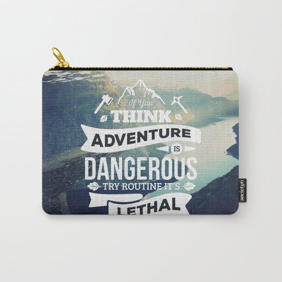 Adventure Quote Carry-All Pouch