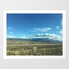 Utah Scrub and Mountains Art Print