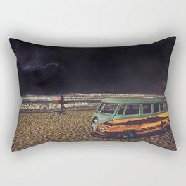 Night Summer Surf Rectangular Pillow