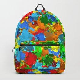 Multicolored splashes Backpack