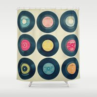 vinyl Shower Curtains featuring Vinyl Collection by Cassia Beck