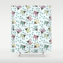 Pajama'd Baby Goats - Blue Shower Curtain