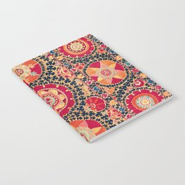 Kermina Suzani Uzbekistan Floral Embroidery Print Notebook