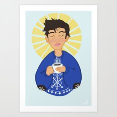 Christmas Coffee Cas Art Print