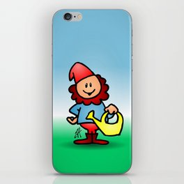 Gnome in the garden iPhone Skin