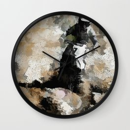 Down and Dirty! - Motocross Racer Wall Clock