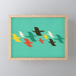 Birds are flying Framed Mini Art Print