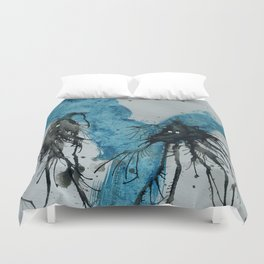 Ink monster- pair Duvet Cover