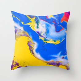 play of color Throw Pillow