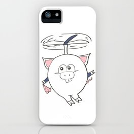 Pigs can fly iPhone Case