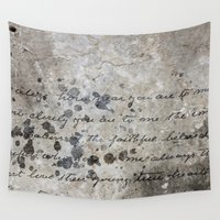 letter Wall Tapestries featuring LETTER by ED design for fun