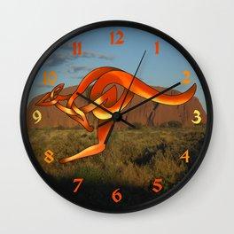 Kangaroo Wall Clock