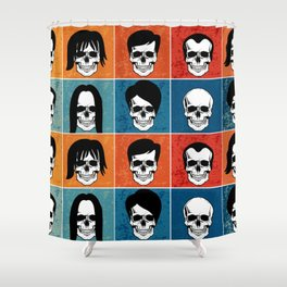 Hairstyles for Skulls Shower Curtain