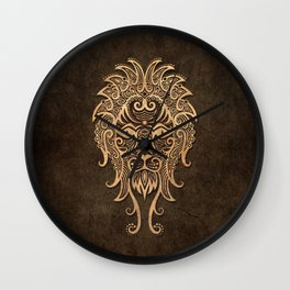 Vintage Rustic Leo Zodiac Sign Wall Clock